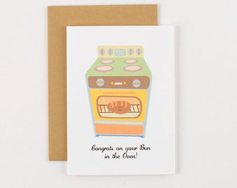 Bun in the Oven Baby Congratulations Greeting Card