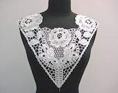 Vintage 1980's Rayon Viscose Guipure Lace Bodice Yoke