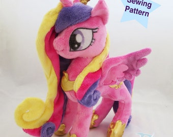 Instant Download Pony Princess pastel colors mane and tail with regalia Sewing pattern