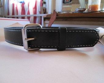 black leather belt , handmade belt , biker belt , Mens black belt , 37 inch belt, black belt , belts , heirloom belt