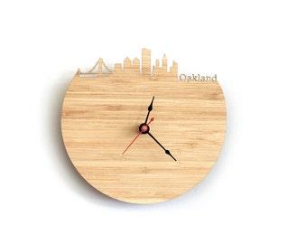 Oakland Skyline Wall Clock