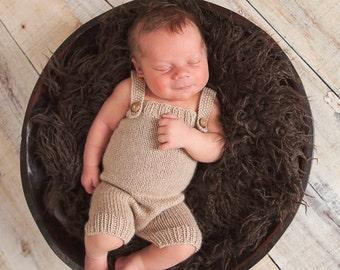 Newborn Boys Romper, Prop Photo Newborn Knit Romper Knit Shortie Romper Baby Romper Newborn Photography, Custom Order, Newborn Size