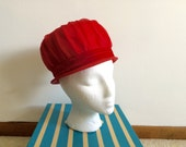 1950s Old Hollywood Glam Bombshell Pillbox Ruched Hat