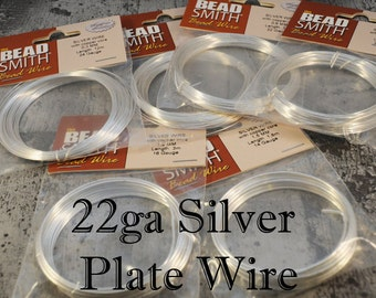 22ga Silver Plate Bead Smith Wire - 10 meters
