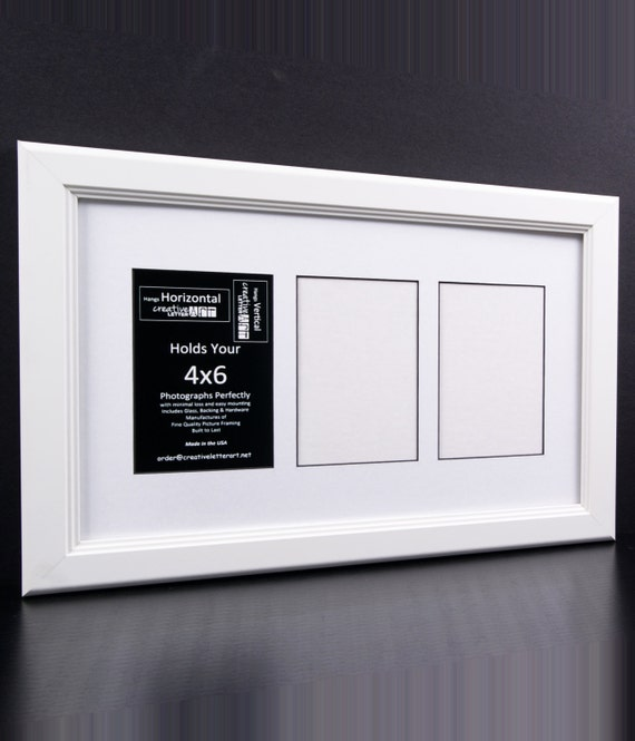 4x6 White Picture Frames With 3 4 5 6 7 8 9 10 Multi