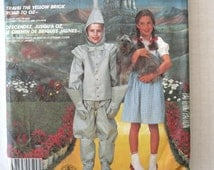 Wizard of Oz Costume Pattern, McCalls P915, 2202, Boys Girls Dorothy and Tin Man Costume Sewing Pattern, 1980s