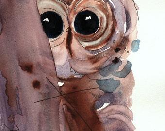 Large Owl Art Print