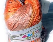 Alize Bahar Batik designed 100% Mercerized Cotton yarn. Multicolor, selfstriping. Colour of your choice. Wholesale. Set of 5 skeins. DSH