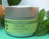 ORGANIC Tooth Powder - Peppermint & Orange - 3 oz - VEGAN - Fluoride Free - Natural - Handmade