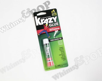 1 - DIY Krazy Glue Brand All Purpose Liquid Adhesive, Ceramic, Wood, Plastic, Leather, Glass, Metal, Rubber, Vinyl, Craft Glue, 1.25 FL. OZ.
