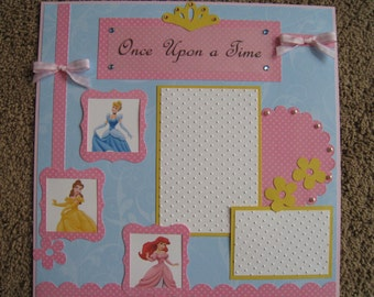 Disney Scrapbook Layout - Princess - 12x12
