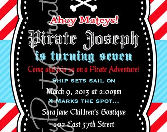 BOY SKULL invitation -YOU PrinT