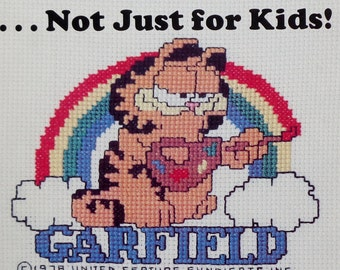 Vintage Millcraft Inc. GARFIELD Not Just For Kids (Multiple Designs) - Counted Cross Stitch Pattern Chart