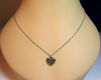 Celtic Heart Charm Necklace, Long, Valentines Christmas Mom Girlfriend Mothers Day Mom Sister Grandmother Aunt Birthday Wife Jewelry Gifts