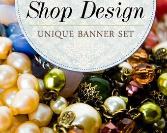 Etsy Banner, Custom Banner, Unique Etsy Graphics, Jewelry banner, Etsy Design