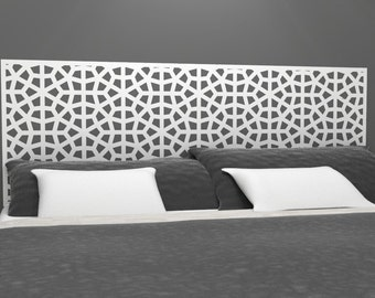 Moroccan Style Headboard Decal | Vinyl wall sticker decal | Moroccan Influence Geometric Pattern | Trendy Home Decor | FREE SHIPPING