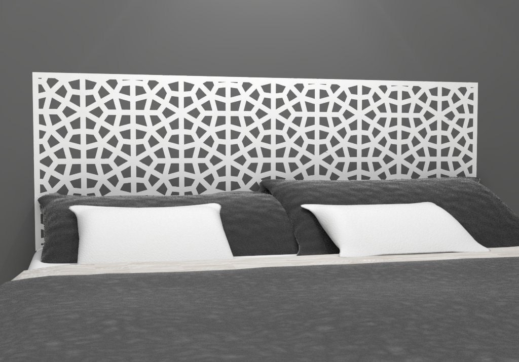 moroccan style headboard decal vinyl wall sticker decal. Black Bedroom Furniture Sets. Home Design Ideas
