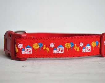 Dog Collar - Little Houses - 50% Profits to Dog Rescue