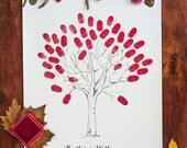 Wedding Thumbprint Tree Guest Book Printable