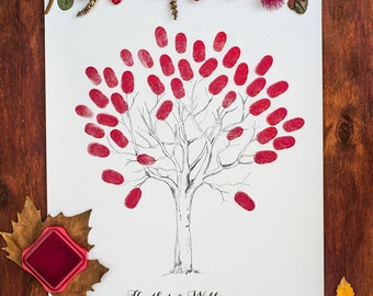 Wedding Thumbprint Tree Guest Book Printable
