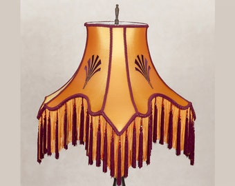Victorian Lamp Shade with Complimentary Lamp, Lampshade Art Deco, Edwardian, OOAK