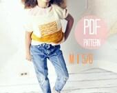 Knit Sweater Pattern: Sunrise Pullover Girls Knitting Pattern Size Medium Color Block Textured Modern Jumper