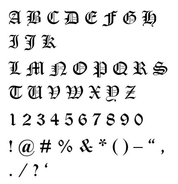 This Would Be Cute To Change Into The Welcome Letter To: Old English-21 Cross Stitch Font Small SALE SALE SALE