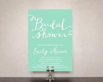 Simply Lovely Bridal Shower Invitation