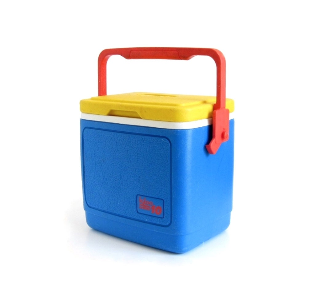 Igloo cooler legend 10 retro 1980s primary colors red yellow - Igloo vintage ...