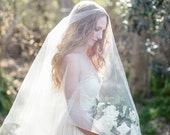 Cathedral Bridal Veil, Simple Veil, Drop Veil, Circle Veil, Bridal Veil, Long Veil, Double Veil, Tulle Veil, Silk Tulle Veil, Lucille Veil