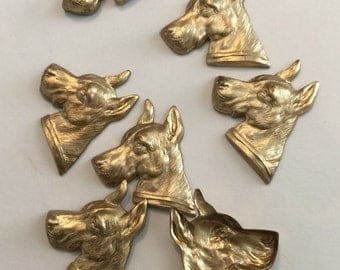 Great Dane Dog Head  (2 pc)