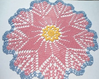 """Large doily, multicolored doilies, 20 """""""
