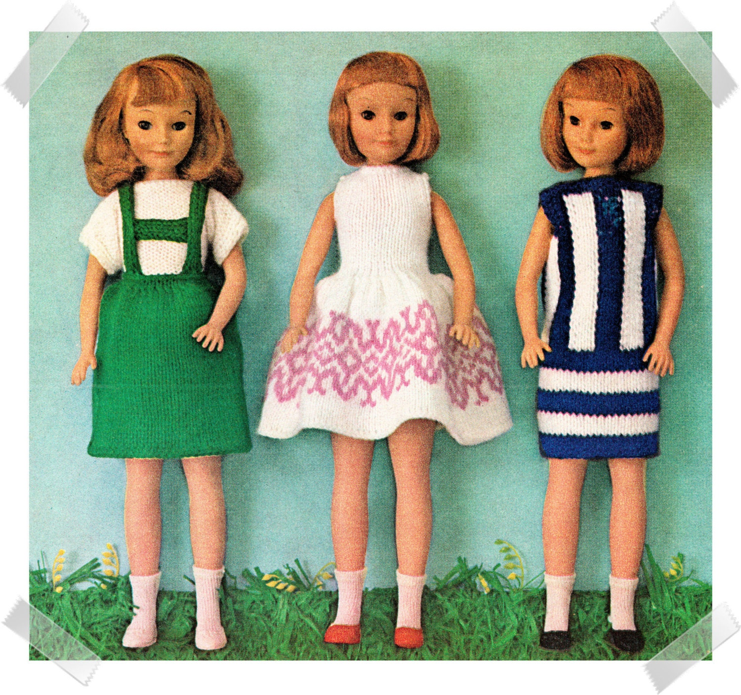 Barbie Knitting Patterns To Download : Instant Download PDF Sixties KNITTING PATTERN to make Barbie
