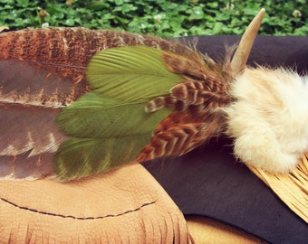 Turkey Smudge Fan Turkey Blessing Feather Ceremonial Feathers Sage Burning Prayer Feathers