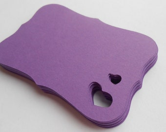 50 Double Heart Fancy Tags. 3 inch. Your Choice Of Colors. Birthdays, Weddings, Favor, Gift.