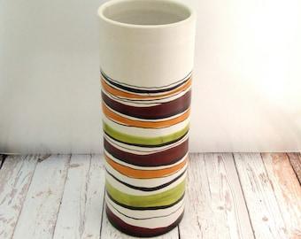 Alvino Bagni Vase, Alvino Bagni Vessel, Italian Art Pottery, Large Vintage Alvino Bagni for Raymor Italian Art Pottery Vase