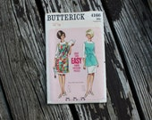 Butterick 4166 1960s 60s Cobbler's Apron Vintage Sewing Pattern Size Small Bust 31-32