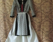 On Sale - Teen Girl's Or Woman's Dirndl/Dress With Detachable Apron, All Cotton Fabric, Teen Size 13 - 14, Woman's Size XS, Ready To Ship