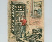 Quack Medicine, Cures, Patent Medicine. 1890 Almanac . Warner's Safe Cure Sarsaparilla, Nervine; Antique Advertising Pamphlet Paper Ephemera