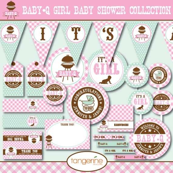 bbq baby shower decorations package babyq baby shower