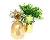 "7.5"" Pineapple Pineapple Decor Brass Pineapple Gold Pineapple Pineapple Decorations Wedding Decor Wedding Candles Pineapple Brass"