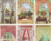 2 Hour Valence & Swags, Tailored Drapes, Festoon Swag, For Double Hung Windows 36 Inches Wide, 52 Inches Long, Simplicity Pattern 7946
