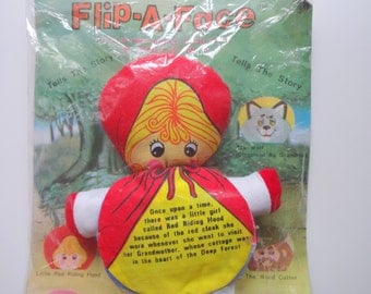 Vintage Little Red Riding Hood Plush Storybook 1970s