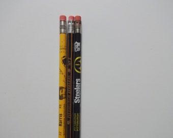 Vintage Pack of NFL Football Pittsburgh Steelers Pencils 1980s