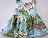 Hawaiian baby dress--Size 3/6 mo.--Ready to Ship