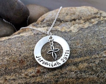 Bible Verse Cross Necklace - Religious Gifts Idea - Custom Religious Necklace - Jeremiah 20:11 Necklace - Sterling Silver - The Charmed Wife