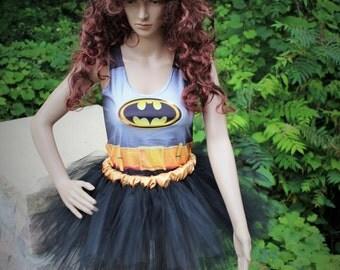 SALE Whole Outfit Batman Halloween Costume Run Disney Avengers Marathon Race Tutu Skirt Racer Back Tank Top Drifit Set Superhero Super Hero