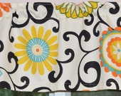 Kitchen Valance . Cafe Curtains  . Pom Pom Play by Waverly . Handmade by Pretty Little Valances