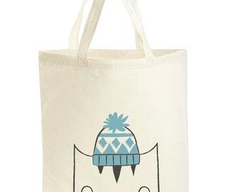 Tote bag - Cat tote bag - Cat Book Bag - School Gym Bag - Totes - Cat Bag - Cat illustration - Reusable Shopping Bag