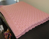 Hand Made Crochet Baby Blanket - Basketweave